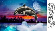 Mystic Killer Whale step by step acrylic painting tutorial  Live Stream