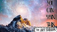 Easy Galaxy and Mountain Acrylic painting tutorial step by step Live Streaming