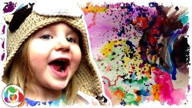 EASY Beginners acrylic painting | Girl Sailing in Umbrella | Full Moon