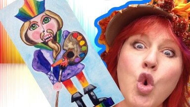 Holiday Art DIY | Artist Nutcracker | Silly Acrylic Art Lesson