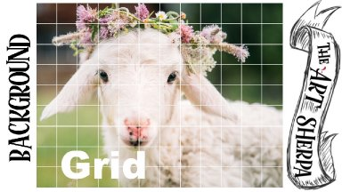 GRIDDING method lamb background for artists that dont love drawing