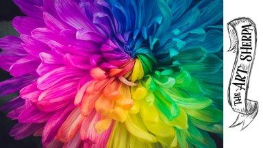 Rainbow Flower acrylic painting tutorial  step by step Live Stream