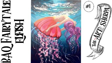 BAQ Elfish acrylic painting tutorial for  step by step part 1